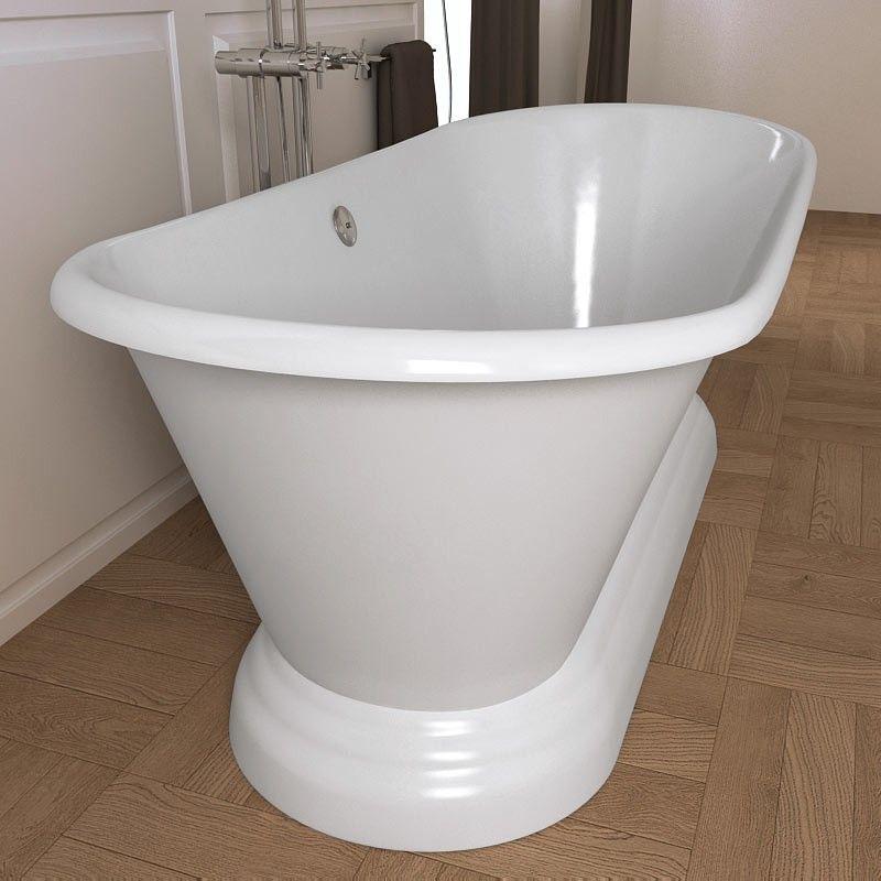 Baignoire semi ilot amazing baignoire ilot ronde acrylique blanc cm fidji with baignoire semi - Baignoire fonte ou acrylique ...