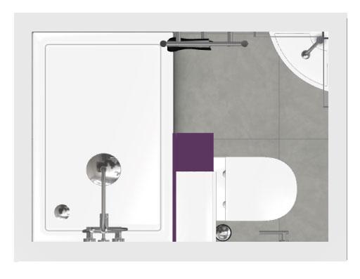 Salle de bain bathbox wc douche 2 m2 for Miroir 40x70
