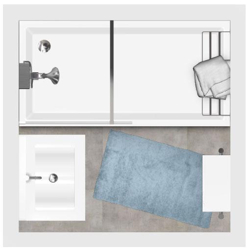 Salle de bain bathbox douche meuble 2 25 m2 for Salle de bain 4 m2