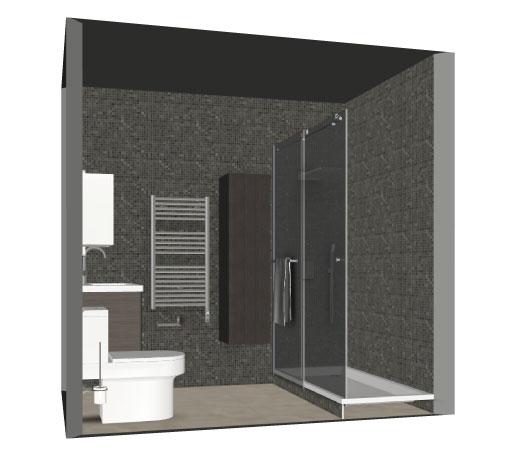 Salle de bain bathbox douche wc meuble 3 40 m2 for Salle de bain 2 m2