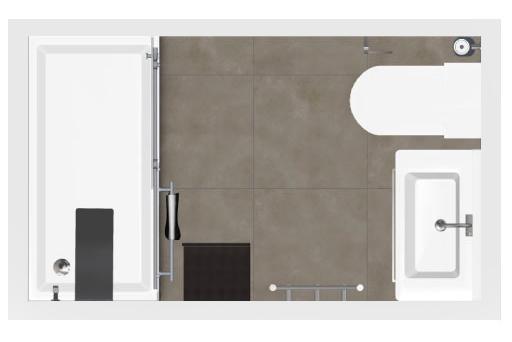 Salle de bain bathbox douche wc meuble 3 40 m2 - Peinture hydrofuge douche ...