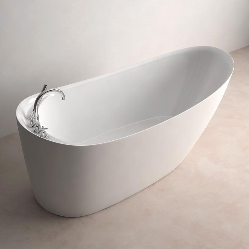 Baignoire ilot ovale 170x76 cm acrylique tilos Baignoire largeur