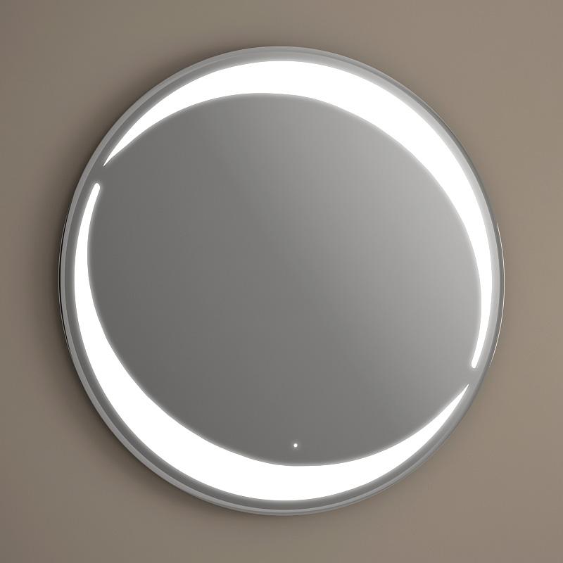 Pack vasque poser ronde asako 50 cm miroir led for Miroir eclairant