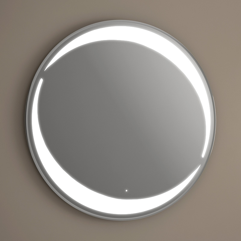 Miroir Eclairant Of Pack Vasque Poser Ronde Asako 50 Cm Miroir Led