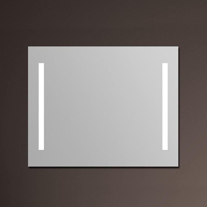 Miroir salle de bain 120x80 cm clairage tube anti bu e for Eclairage salle de bain miroir