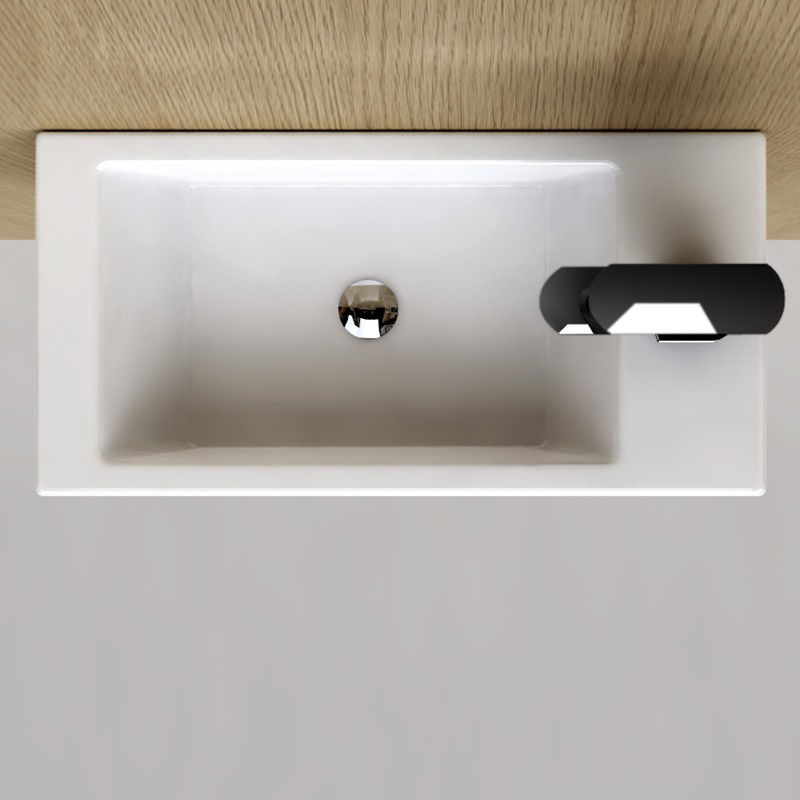 lave main gain de place 50x25 cm en c ramique pure. Black Bedroom Furniture Sets. Home Design Ideas