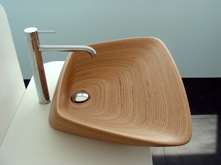 Quel forme de vasque poser vous correspond for Evier en bois