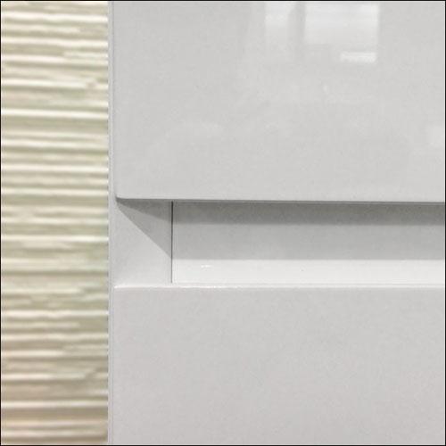 meuble salle de bain blanc 40 cm tiroir plan verre glass. Black Bedroom Furniture Sets. Home Design Ideas
