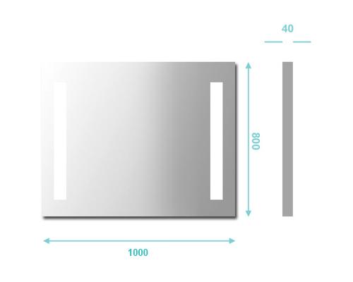 Miroir salle de bain 100x80 cm clairage tube anti bu e - Miroir anti buee salle de bain ...