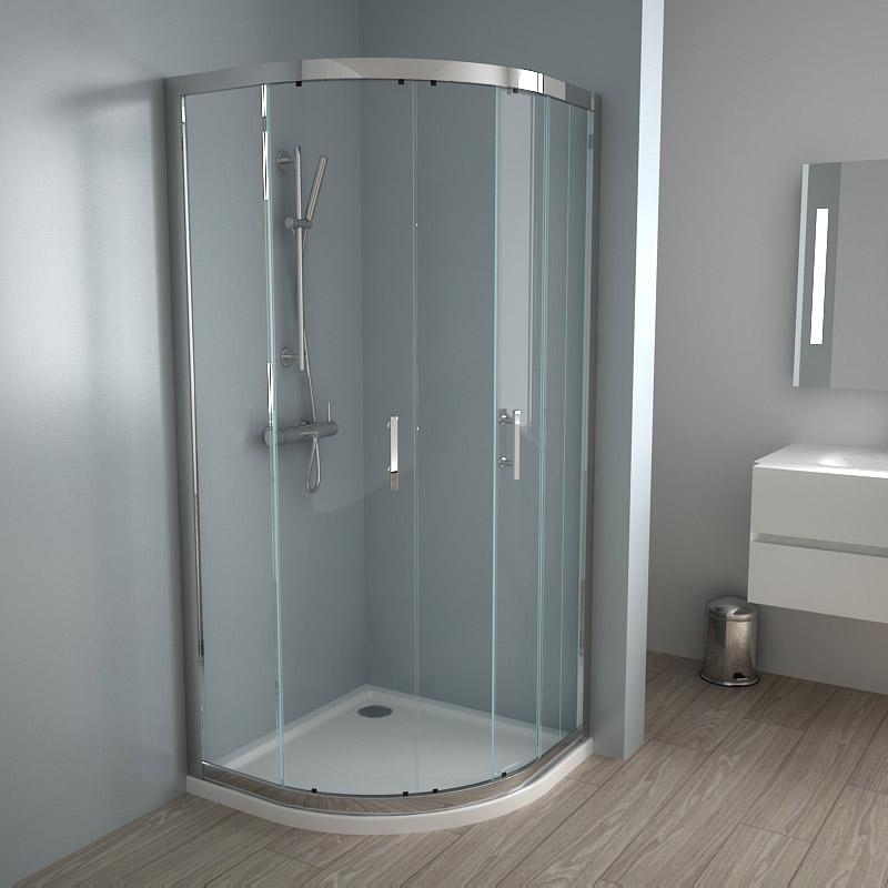 porte de douche coulissante 90 cm wikiliafr With porte de douche coulissante avec meuble d angle salle de bain lapeyre