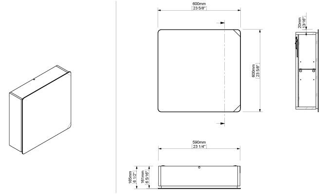 armoire de toilette sonia 600 mm