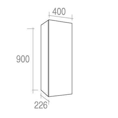 demi colonne milo 40x22x90 cm. Black Bedroom Furniture Sets. Home Design Ideas