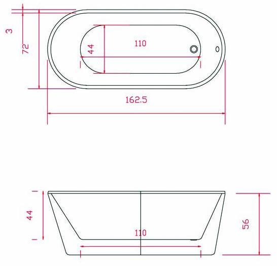 Baignoire ilot ovale 162x72 cm petite dimension - Baignoire d angle petite dimension ...