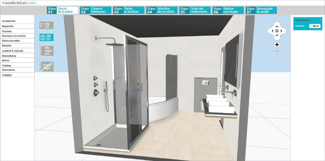 outil 3d salle de bain. Black Bedroom Furniture Sets. Home Design Ideas