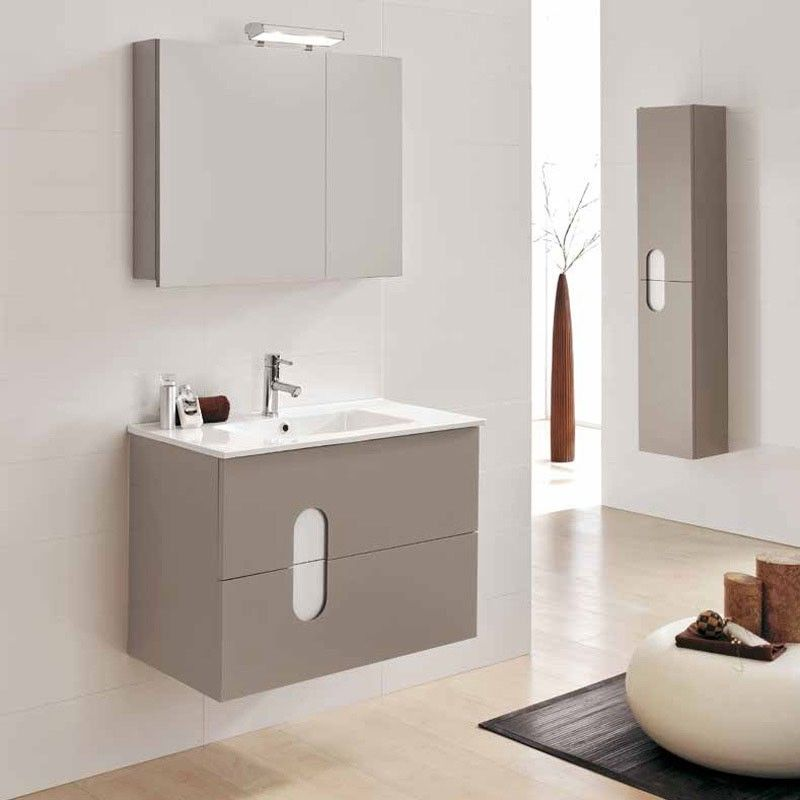 meuble salle de bain 80 cm 2 tiroirs plan vasque c ramique swift. Black Bedroom Furniture Sets. Home Design Ideas
