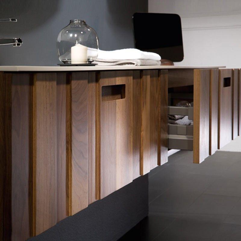 Meuble salle de bain noyer 160 200 cm 2 tiroirs valnot for Meuble de salle de bain 200 cm