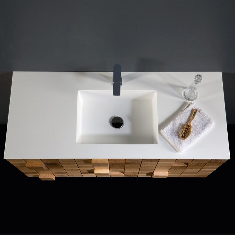 Meuble salle de bain 108 149 cm 2 tiroirs grid for Meuble salle de bain 45 cm