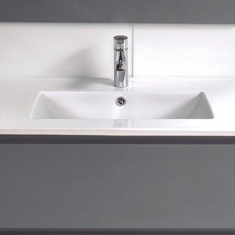 meuble salle de bain 100 cm faible profondeur plan c ramique milo. Black Bedroom Furniture Sets. Home Design Ideas
