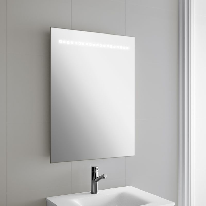 miroir lumineux led salle de bain 60x80 cm horizontal. Black Bedroom Furniture Sets. Home Design Ideas