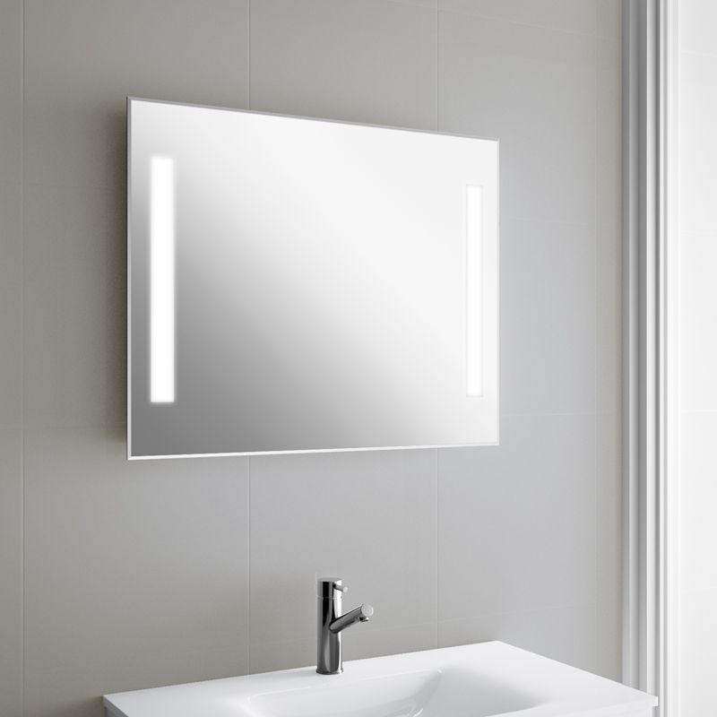 Miroir lumineux led salle de bain de 75 90x60 cm for Grand miroir salle de bain lumineux