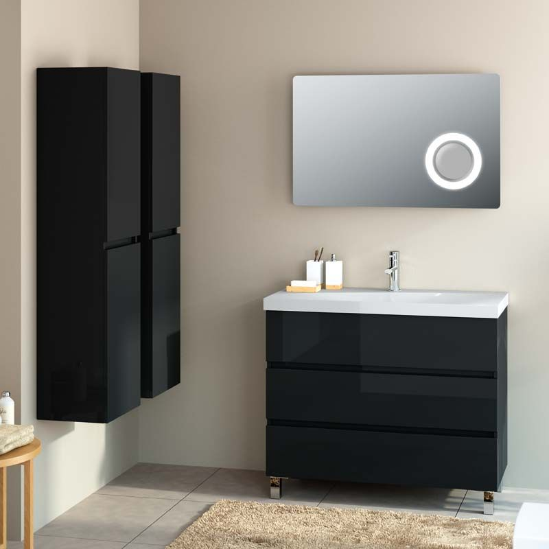 meuble salle de bain 100 cm 3 tiroirs fussion line. Black Bedroom Furniture Sets. Home Design Ideas