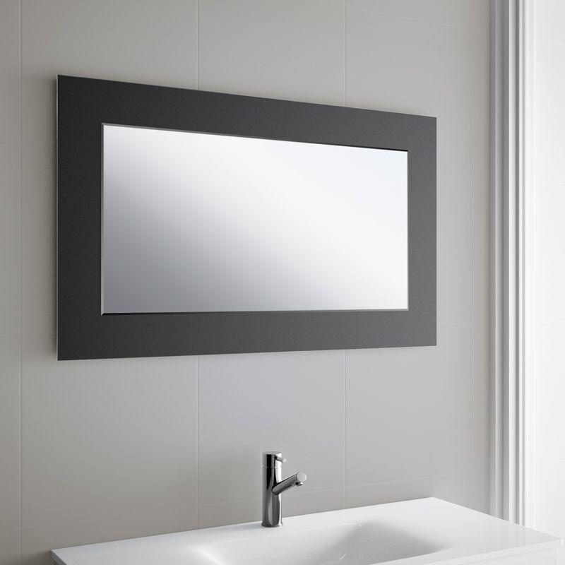 miroir salle de bain 100x60 cm horizontal creta. Black Bedroom Furniture Sets. Home Design Ideas