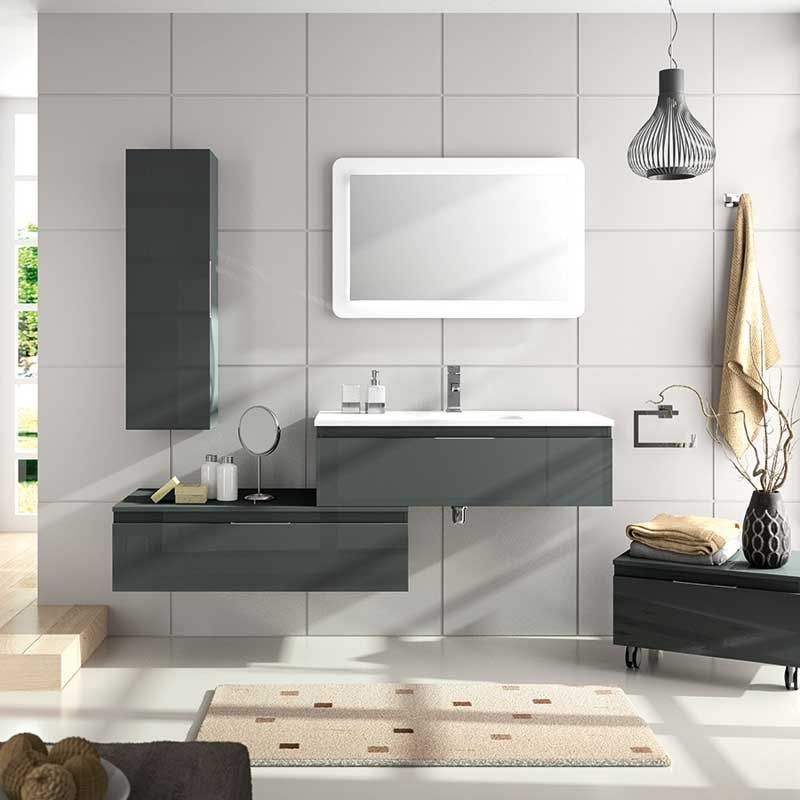 Meuble salle de bain 60 cm 2 tiroirs versus for Tiroir meuble salle de bain