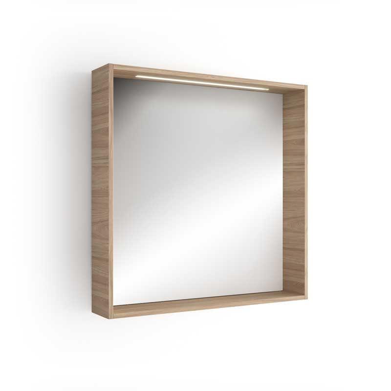 Miroir lumineux led salle de bain 80x80 cm for Miroir salle de bain led