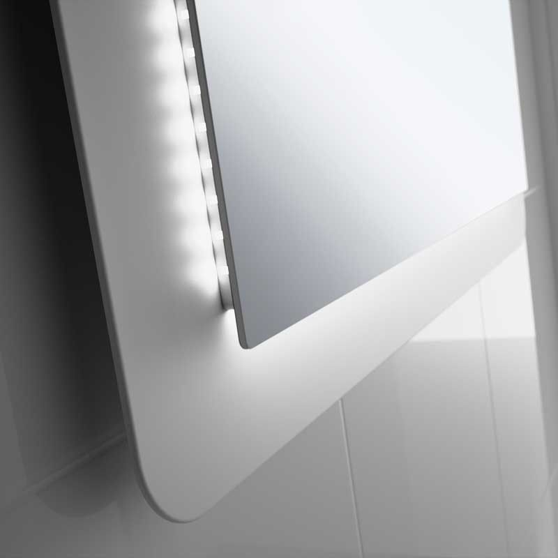 Miroir lumineux led salle de bain de 80 95 x 60 cm for Miroir salle de bain led