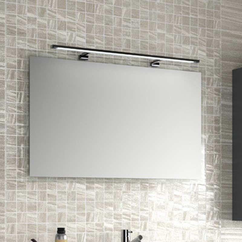 Miroir salle de bain de 55 100x66 cm horizontal ou for Miroir horizontal blanc