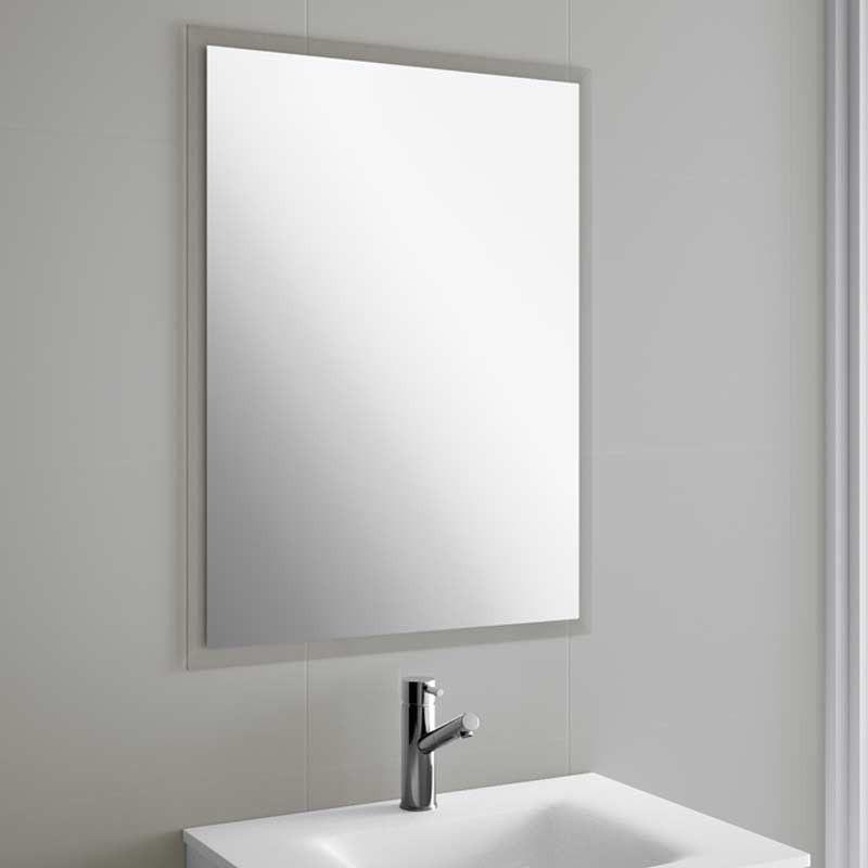 Miroir salle de bain de 55 100x66 cm horizontal ou for Miroir horizontal