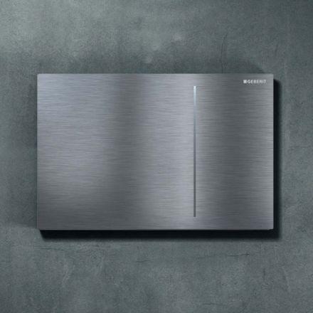 plaque d clenchement geberit sigma 70 acier inoxydable bross sigma 12. Black Bedroom Furniture Sets. Home Design Ideas