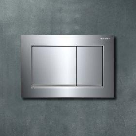 Plaque de déclenchement Geberit Omega 30, chromé, bas de touche chromé mat