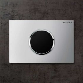 Plaque de déclenchement WC électronique double débit, Sigma 10, chromé mat, chromé brillant