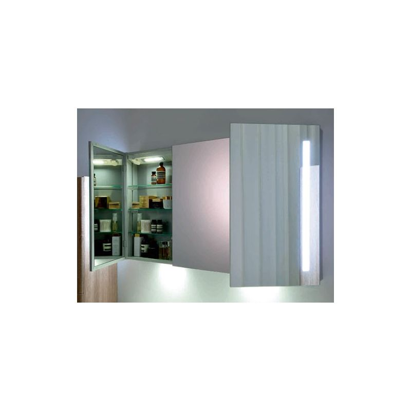 Armoire designe armoire de toilette miroir 100 cm for Armoire de toilette pour salle de bain