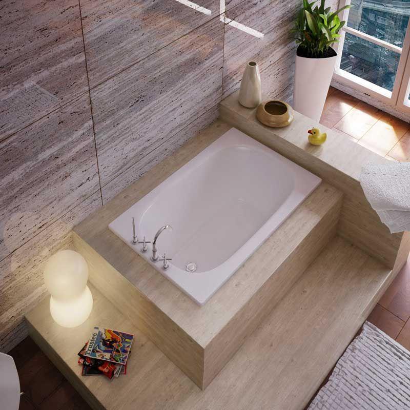 baignoire rectangulaire en acier maill 108 130 cm. Black Bedroom Furniture Sets. Home Design Ideas