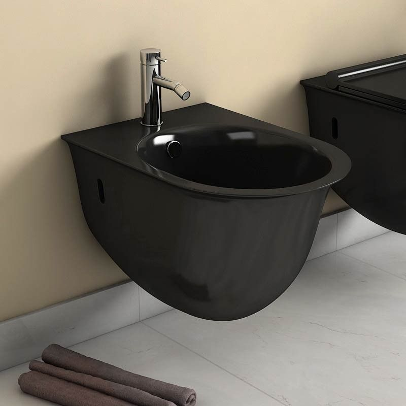 bidet suspendu alta noir. Black Bedroom Furniture Sets. Home Design Ideas