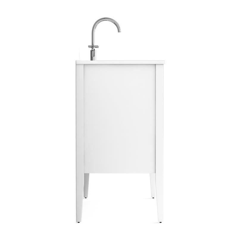 Meuble salle de bain blanc 120 cm 2 portes vasque for Porte meuble salle de bain blanc