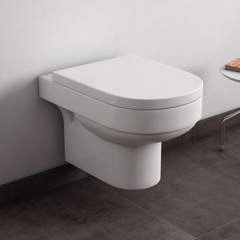 wc suspendu lumio avec abattant. Black Bedroom Furniture Sets. Home Design Ideas