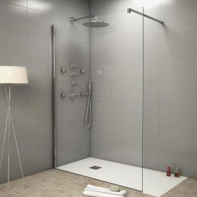cabine de douche open space 140 x 90 cm. Black Bedroom Furniture Sets. Home Design Ideas