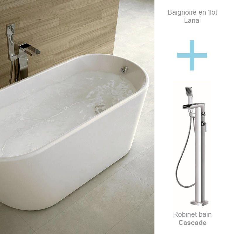 pack promo baignoire ilot lanai avec robinet bain au choix. Black Bedroom Furniture Sets. Home Design Ideas