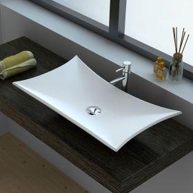 Vasque à poser matière composite, 64x38 cm, Minéral