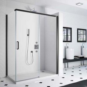 Cabine de douche coulissante Colors Black Matt, 120 à 140 cm