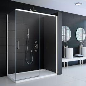 Cabine de douche coulissante Colors White Matt 120 à 140 cm