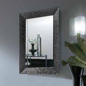 Céline, miroir salle de bain 98X70 cm, cadre verre noir