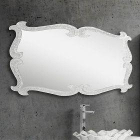 Marie, miroir salle de bain 150X75 cm, granité transparent