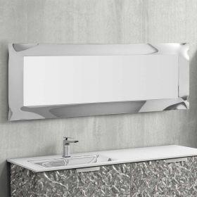 Aurélia, miroir salle de bain 169X68 cm, verre argent
