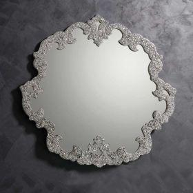 Stéphanie, miroir salle de bain 95x93 cm, granité gris argent