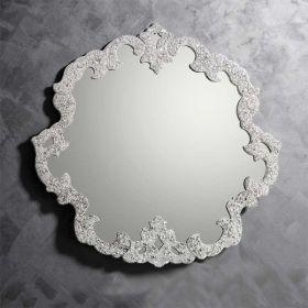 Stéphanie, miroir salle de bain 95x93 cm, granité transparent