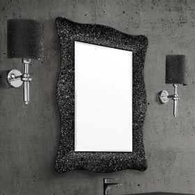 Alexandra, miroir salle de bain 98X70 cm, cadre noir